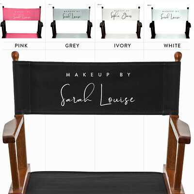£21.98 • Buy Personalised Replacement Canvas Set For Makeup Artist & Folding Directors Chairs