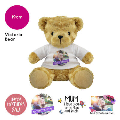 £10.60 • Buy Personalised Name Photo Mothers Day Victoria Teddy Bear Presents Gifts For Mum
