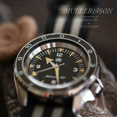 $ CDN731.19 • Buy Müller&Son  Seamaster 300 Spectre  Watch Mod Made From Seiko SKX + Rubber Strap