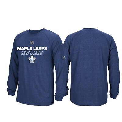 Toronto Maple Leafs NHL Adidas Mens Navy Climalite Long Sleeve Authentic  T-Shirt • 24.99 17a5d6a12