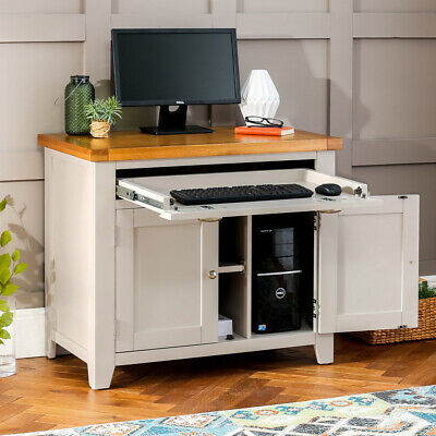 Downton Grey Painted Hideaway Computer Desk - Furniture - DT54 • 399£