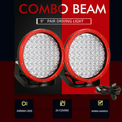 AU136.96 • Buy 9  Inch OSRAM LED Driving Lights Spot Flood Round Black Spotlights 4x4 OffRoad