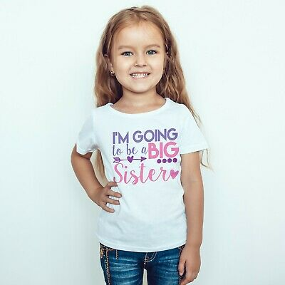 I'm Going To Be A Big Sister Girls Announcement Childrens Kids T-Shirt Top 560 • 8.99£
