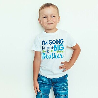 I'm Going To Be A Big Brother Boys Announcement Childrens Kids T-Shirt Top 561 • 8.99£