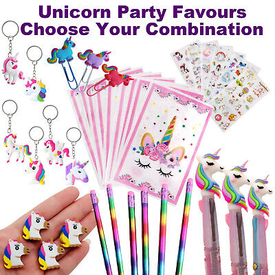 AU5.99 • Buy Unicorn Party Favours | Bulk Party Supplies | Loot Bags Pens Rainbow Pencils