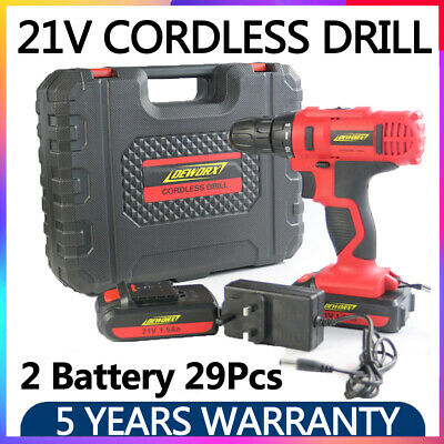 View Details 21V Cordless Combi Drill Recharge Electric Screwdriver Lithium Ion 2 Batteries • 57.85£
