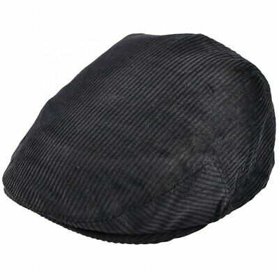 Unisex Corduroy Flat Cap Country Cord Traditional Peaked Newsboy Hat • 9.95£