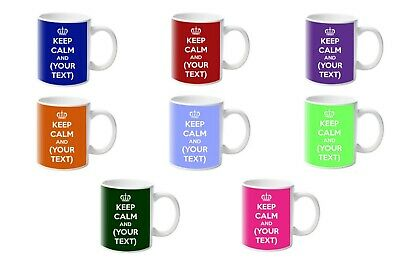 £7.99 • Buy Personalised Keep Calm And... (ANY MESSAGE!) Mugs By Forever Personal Designs