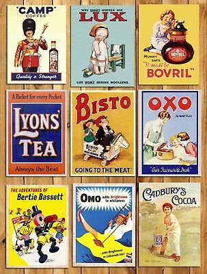 £7.99 • Buy Metal Kitchen Signs Plaque Vintage Retro Style Adverts Camp OXO Bisto Wall Decor