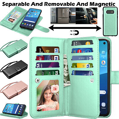 AU14.69 • Buy For Samsung Galaxy S10e/S20 FE/S21/Ultra 5G/S8+ 9 Card Leather Wallet Stand Case