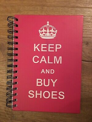 Keep Calm And Buy Shoes Pink Lined Notebook With Crown Paper By Paper Place • 3£