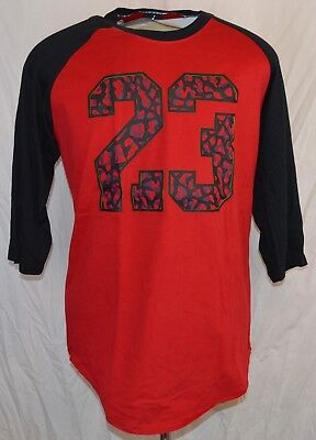 c1856d2704c1d0 New Nike Air Jordan 23 Elephant 3 4 Sleeves T-shirt Mens Large Red