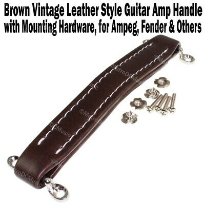 $ CDN14.42 • Buy Brown Vintage Leather Style Guitar Amplifier Handle For Fender Ampeg Amps Amp