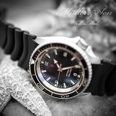 $ CDN661.54 • Buy Müller&Son  Planet Ocean  Watch Mod Made From Seiko SKX007/9 + Rubber Strap