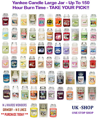 Yankee Candle Large Jar - Up To 150 Hour Burn Time - TAKE YOUR PICK!! • 19.99£