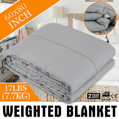 AU51.96 • Buy 7.7KG Premium Weighted Blanket Heavy Gravity For Kids/Adults Deep Relax Sleep