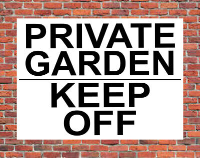 £2.49 • Buy PRIVATE GARDEN KEEP OFF Metal SIGN ~ Stay Out No Entry Trespassing Land NOTICE