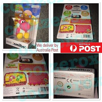 AU38.99 • Buy BINB Amiibo Pink Yarn Yoshi Yoshi's Woolly World Series AU Nintendo 3DS Wii U