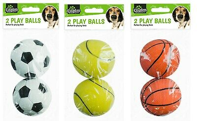 Dog Puppy Play Fetch Training Balls Strong Toys Sports Non Toxic Rubber Throwing • 4.79£