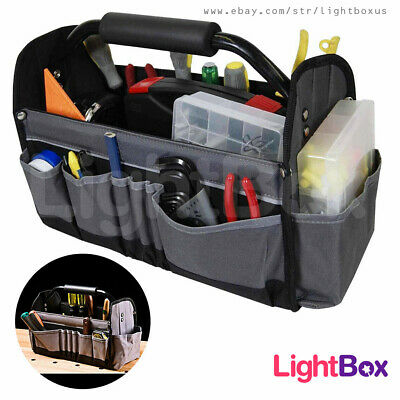 £21 • Buy Tool Tote Bag Open-Top Electricians Tool Box 14-Multi Pockets Work Hard Home NEW