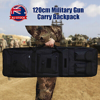 AU42.99 • Buy Tactical Military Dual Gun Rifle Carry Case Backpack Bag For Hunting Shooting O