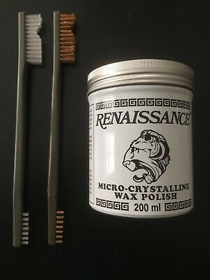 Coins And Relics Cleaning Kit - 7 Oz Renaissance Wax And TWO Brushes> Must Have! • 34.95$