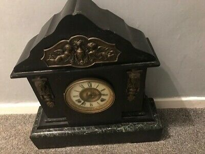 19th Century Marble / Slate Striking Mantle Clock • 160£