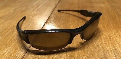 b1eb78b2445 Oakley Flak Jacket Polarized 12-901 53  14 Sunglasses Root Beer Gold Iridium