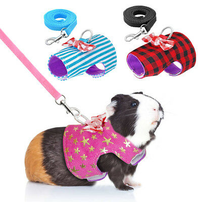 £3.99 • Buy Top Small Animal Harness Lead Guinea Pig Ferret Hamster Rabbit Squirrel Clothes