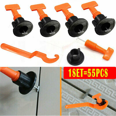 55pcs Tile Spacers Floor Wall Tile Leveler Tools Reusable Tile Levelling Systems • 7.69£