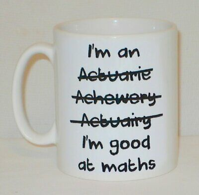 £9.99 • Buy I'm An Actuary Good At Maths Mug Can Be Personalised Great Funny With Work Gift