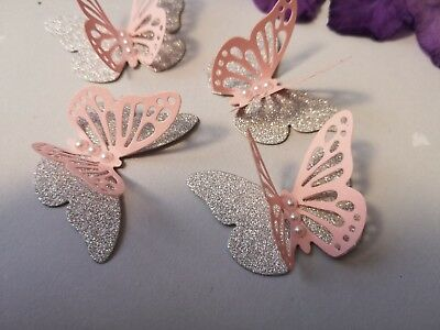 30x 3D Paper Butterflies Wedding Birthday Hen  Party Table Decorations Handmade • 7£