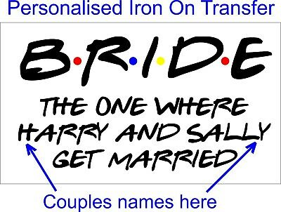 £3.49 • Buy Friends The One Where - Personalised Hen Night Iron On Vinyl Transfer Wedding