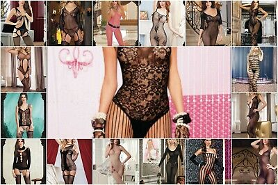 Body Stocking Bodysuit Catsuit Lingerie Camisole Bodies Teddy Basque Lace Sheer • 4.99£