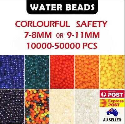 AU5.80 • Buy 10,000+ Water Beads Orbeez Gel Balls Blaster Crystal Soil Plant 7-8/9-11/11-13mm