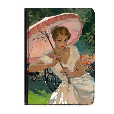 AU46.79 • Buy Pin Up Girl Pink Umbrella Poster Universal 7  Leather Flip Case Cover