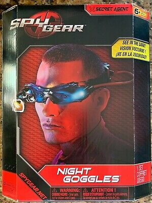 Vision Enhancing Night Goggles Spy Gear Bright LED Lights Blue Tinted Lenses New • 14.48£