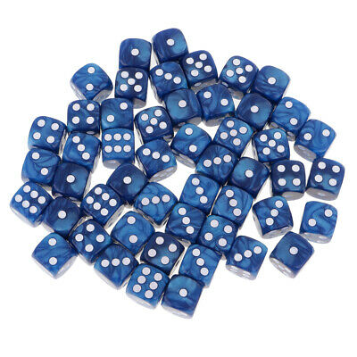 AU12.12 • Buy 50X Six Sided D6 Dice Set Square 16mm For  TRPG MTG Blue