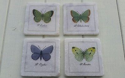 Vintage Style Butterfly Stone Coasters  • 12.99£