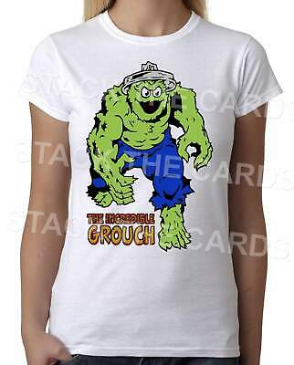 Incredible Grouch - Womens White T-Shirt - Geek Retro Fun Kitsch Cute • 9.97£