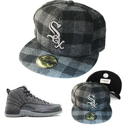 9fde865f23ab8 New Era MLB Chicago Whitesox 5950 Grigio Cappello Aderente Nike Air Jordan  12 • 31.92€