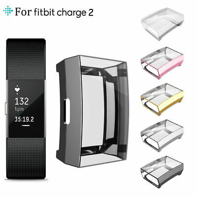 $ CDN4.86 • Buy For Fitbit Charge 2  Flexible Sturdy TPU Case Cover Ultra Full Screen Protector