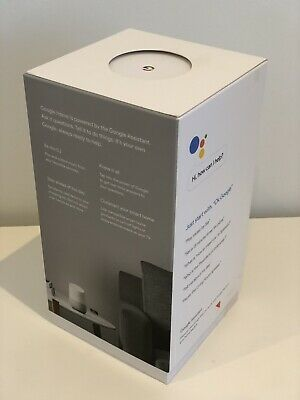 AU150 • Buy *New/Unopened* Google Home Smart Assistant Speaker Wi-Fi Streaming White Slate