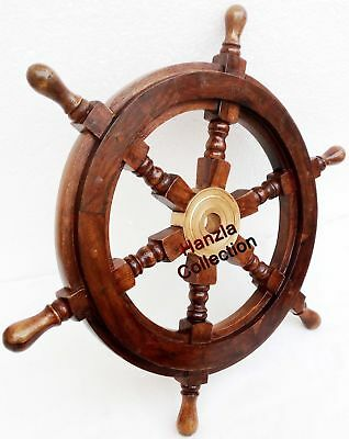 £34.30 • Buy 18  Collectable Wooden Ship Wheel Pirate Captain Boat Steering Nautical Maritime