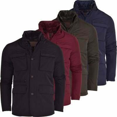 $34.36 • Buy Mens Field Jacket Stand Up Collar Without Hood Hoodless Outdoor Work Hunter Coat