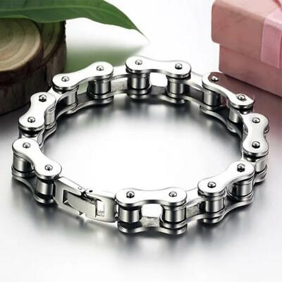 Mens Stainless Steel Bicycle Bike Chain Bracelet Punk Gothic Biker Bangle Gift • 5.95£