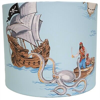 Pirate Ship Lampshade Light Shade Boys Kids Bedroom Nursery Accessories Gifts • 25.99£