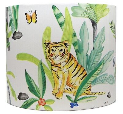 Jungle Animals Lampshade Light Shade Kids Bedroom Nursery Accessories Gifts Lamp • 28.99£