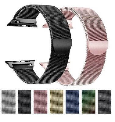 AU10.95 • Buy Milanese Magnetic Stainless Steel Strap Band For Apple Watch Series 4 / 3 /2 /1