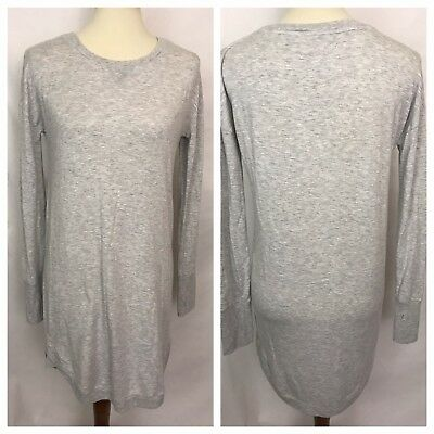fac45667d35 ATHLETA Gray Long Sleeve T Shirt Dress Size Small SO SOFT • 21.99